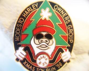 Harley Davidson Pin Modesto Harley Owners Group Christmas Toy Run 1996 Biker Hog Motorcycle Club Accessories