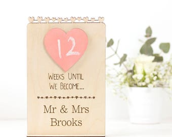 Personalised Wedding Countdown Sign Gift