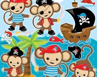 Monkey pirate | Etsy