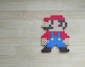 Mario Bros Super Mario Perler - Wall art // Magnet // Fan Art