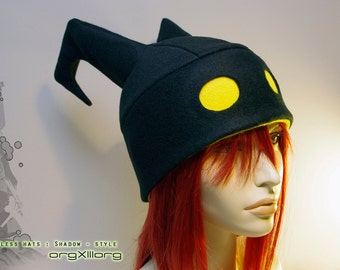 Kingdom Hearts Heartless Hat - original Shadow fleece beanie - Made to Order