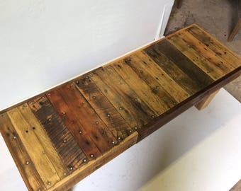 Sturdy Reclaimed Wood Bench