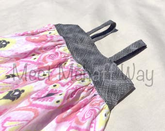 READY-TO-SHIP -- Toddler Simple Ikat Dress -- Girls Tank Top Dress -- Size 2T