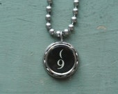 "Typewriter Number 9 Necklace- Vintage, Recycled UPcycled, Authentic, Number ""9"" Typewriter Key, 2-9 and A-Z available By UPcycled Works!!"
