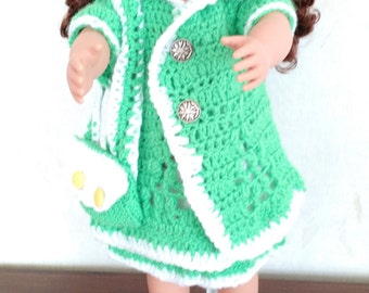 Doll's green suit