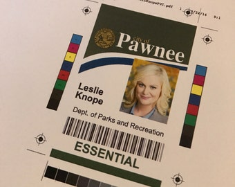 Leslie Knope - City of Pawnee ID Badge - dept. of parks and recreation - Print it yourself