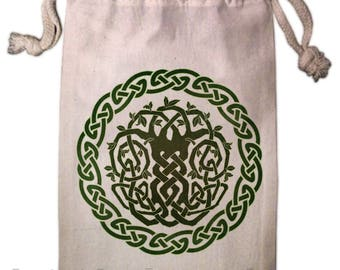 Celtic Tree Tarot Bag -  Pagan Wiccan  - Brigid Ashwood