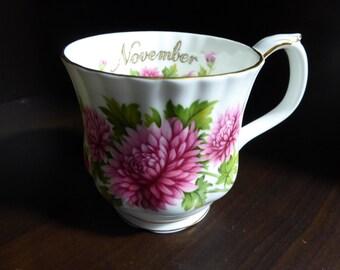 Royal Albert Flower of The Month MUG  NOVEMBER Chrysanthemum