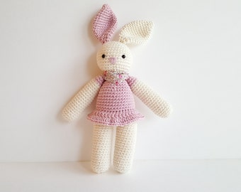 Huggy Baby Lovey pink rabbit
