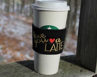 Coffee Gifts - Coffee Cup Wrap - Coffee Mug Sleeve -Coffee Lovers Gift - Quote Mug - Reusable Coffee Sleeve - Coffee Wrap