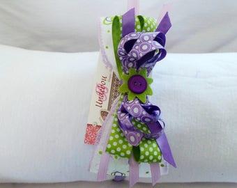 Purple hard headband