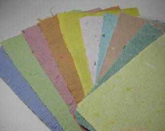 10 Büttenpapiere Scrapbooking Pastel Colors