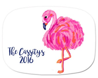 Flamingo Serving Tray - Personalized Melamine Tray - Flamingo Platter