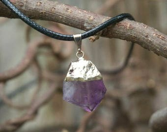 Amethyst Crystal Point necklace