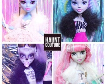 """Monster Doll Haunt Couture """"UnFURgettable"""" high fashion fur coat accessory"""