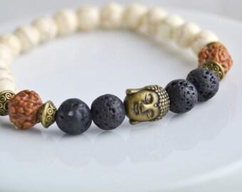 Stone bracelet - Man bracelet - Woman bracelet - boho bracelet - yoga bracelet - stretch bracelet - elastic - customizable size