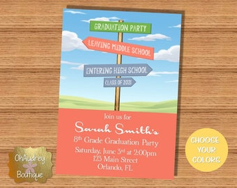 Middle School Graduation Party Invitation