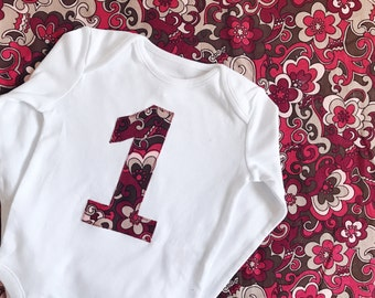 Girl 1st birthday, retro baby 1st birthday outfit, first birthday shirt, 1st birthday gift, girl cake smash, first birthday girl, age one