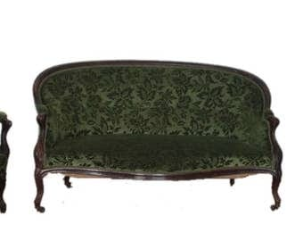 Louis Philippe French parlor sofa and two armchairs, 1830 1850, France