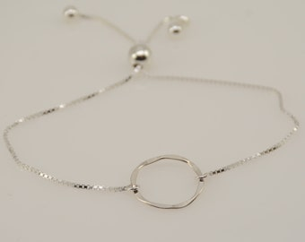 Karma bracelet. Sterling silver expandable karma bracelet