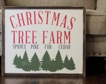 Christmas Tree Farm Christmas sign