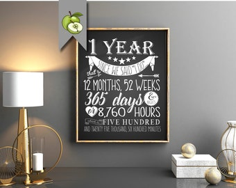 1st anniversary, first Anniversary, printable, anniversary gift, gift for wife, husband, mom, Subway, dates, easy as, anniversary gift,