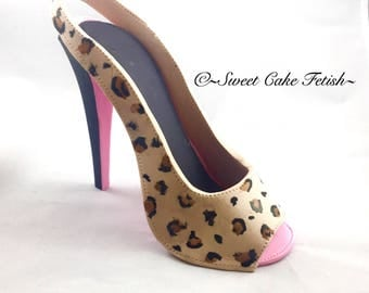 Gumpaste High Heel Shoe/ Cake Topper//sugar shoes/Fondant shoe