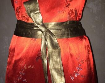 Bronze color leather wrap belt vintage