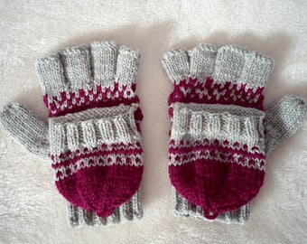 Fairy Tale Convertible Gloves [Knitting Pattern]. Knit gloves. Fingerless. Texting gloves. Handmade gloves. Winter Accessories. Women. Girls