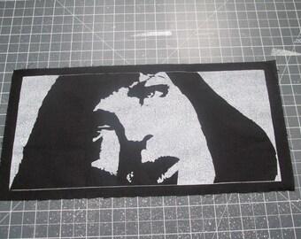 Mia Wallace Back Patch - Print, Screen Print, Punk, Patch, Stencil, Art, Horror, Pulp Fiction.