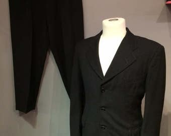 Wool Dark Grey Men Suit