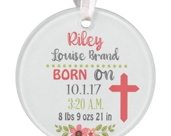 Girls Baby Ornament Baby Ornament Christmas Ornament Shower Gift Baby Gift Baby Christmas Ornament Personalized Baby Ornament RyElle