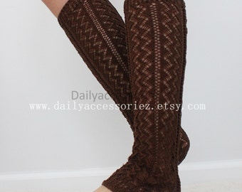 brown womens leg warmers, soft knit leg warmers, leg warmers adult, boot socks, for girls, for women, Christmas Gifts, for her, for mom