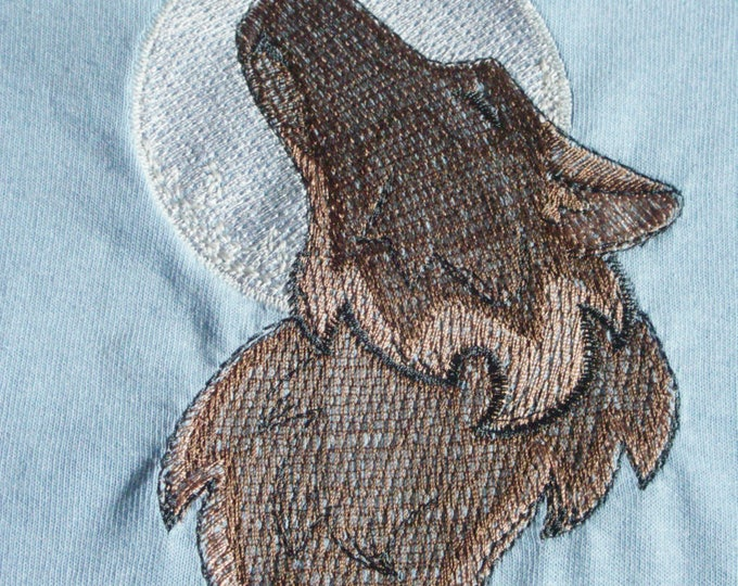 Childs' T-Shirt - 5 - 6 Years - Brown Wolf - Colour Changing