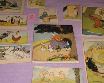 Storybook pages, Margaret Evans Price, The Real Story Book, Fairytale,  empherma, 11 pages, various sizes, vintage  (Set 4)