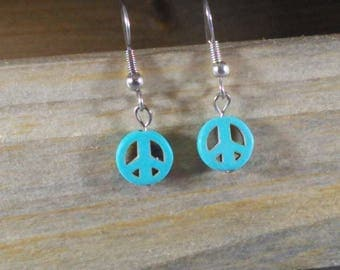 Small peace sign earrings
