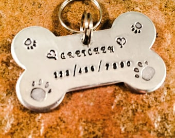 Pet ID tag, Pet Collar Tag, Personalized Tag