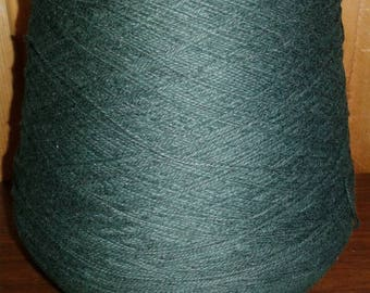 Dark Forest Green pound cotton yarn cone