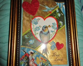 "Original 4""x 6"" Collage - ""True Love"""