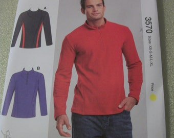 Kwik Sew 3570 Mens XS to XL Shirts