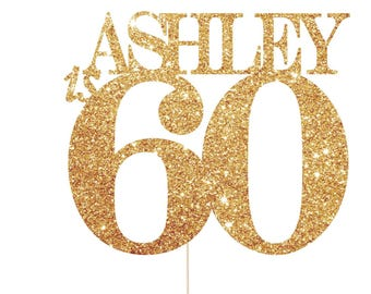 60th Birthday Cake Topper, 60 Cake Topper, 60 Birthday Cake Topper