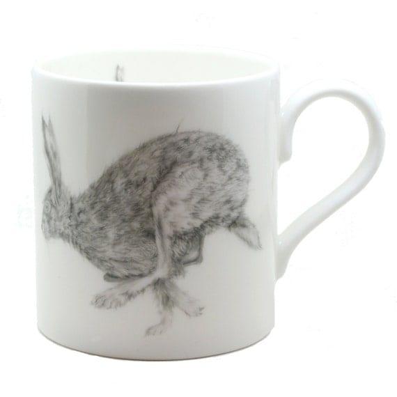 Small Kitchen Gift Ideas: Horace Hare Mug Fine Bone China Country Kitchen Gift