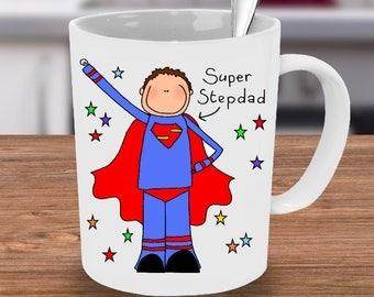 Mug for Stepdad, Super Step Dad, Fathers Day Mug, Gift for him, Hero Dad, Superhero Mug, Fathers Day, Hero, Unique mug, Custom Mug, Stepdad