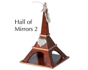 """Eiffel Tower - """"Hall of Mirrors 2"""" - Faux woodgrain painting and staining with decorations"""