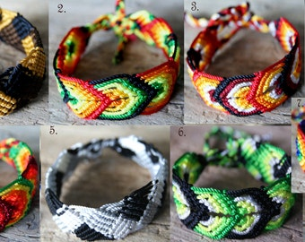 Macrame bracelet  friendship cotton cord twist hand bracelet colorful hippi boho