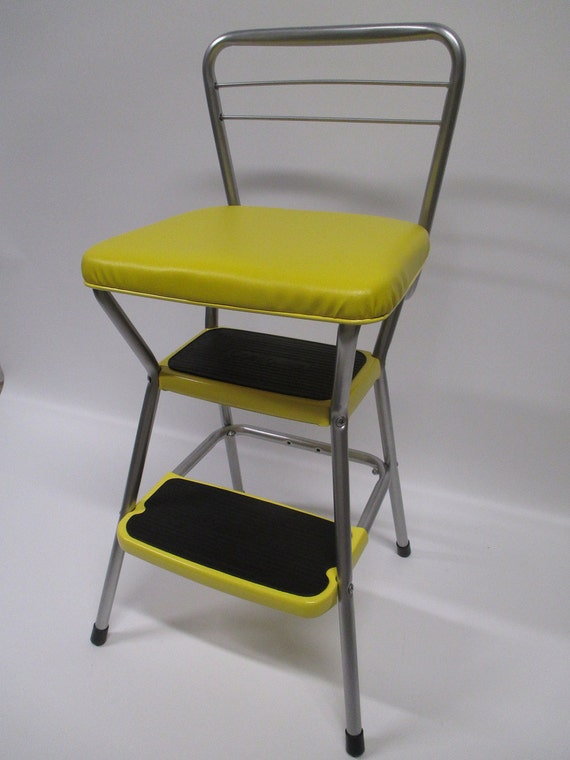 Vintage Restored Cosco Kitchen Utility Flip Seat Step Stool