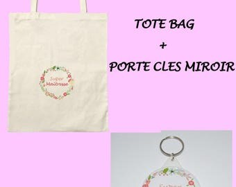 All tote bag + mirror SPECIAL mistress keychain