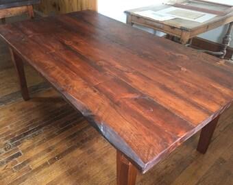 Reclaimed Yellow Pine Farm House Table ~Farm House Table ~ Rustic Table