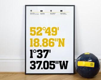 Burton Albion Football Stadium Coordinates Posters