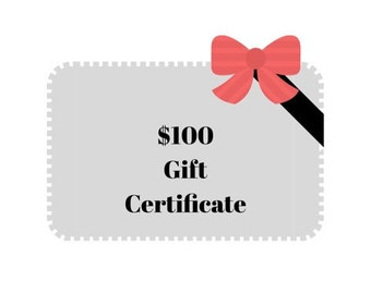 Rustic Eye Gift Certificate / 100 Gift Card / Choose Your Own Gift / Last Minute Gift / Farmhouse Decor / Industrial Decor / E-Card